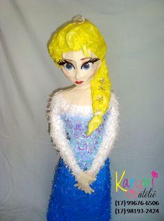 Pinhata da Elsa - Festa Frozen #frozenparty #pinataelsa