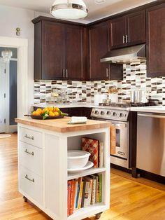 Small Kitchen Storage--small rolling island