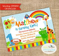 Baby TV Personalized, Printable Invitation, by Mimorusa on Etsy Printable Invitations, Party Printables, Birthday Invitations, 1st Boy Birthday, 2nd Birthday Parties, Baby Party, First Birthdays, Party Time, Your Cards