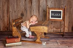 Custom Photography Prop / Newborn / school desk