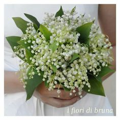 Wedding Bouquet Featuring: White Lily Of The Valley & Green Foliage