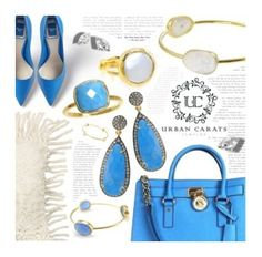 """Turquoise Blue"" by urbancarats ❤ liked on Polyvore featuring Dot & Bo, BRIO and Michael Kors"