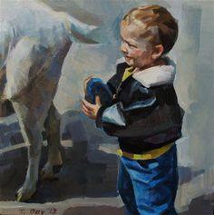 Petting Zoo - Original Fine Art for Sale - © Taryn Day