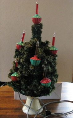 1948 noma 9 lite c 7 bubble light tree with metal base tree lighting