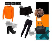 Orange And Black by angela-g-fuentes on Polyvore featuring moda, STELLA McCARTNEY, L'Agence, Jockey, H&M and Pink Haley