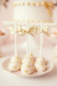 Pink & Gold Valentines Dessert Table     TheCakeBlog.com