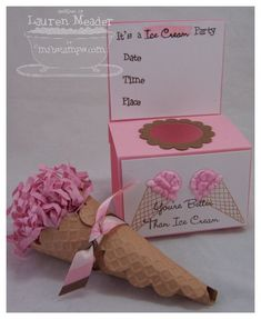 3 of my kids have summer birthdays...I think we'll have an ice cream party so I can make these cute invites!