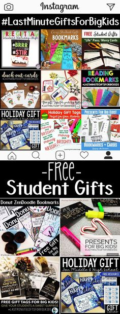Student gifts for big kids, gifts for students, gifts for secondary students, cheap student gifts, free student gifts, from teacher to student, printable gifts, last minute gifts, high school student gifts, middle school student gifts