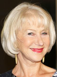 over 50 short hairstyles thin hair | Helen Mirren Hair - Celebrity Haircuts Over 50 - Good Housekeeping
