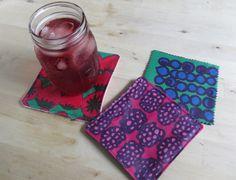DIY Fruity Marimekko Coasters | Whimseybox