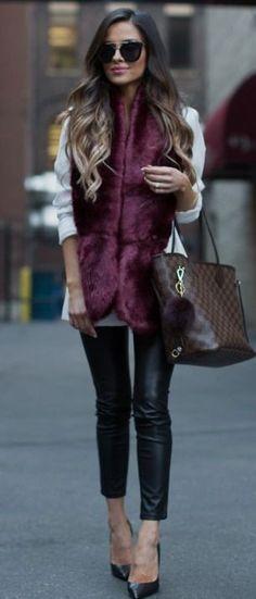 Burgundy Faux Fur. | Mia Mia Mine #burgundy
