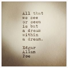 Edgar Allan Poe Quote typed on Typewriter von farmnflea auf Etsy