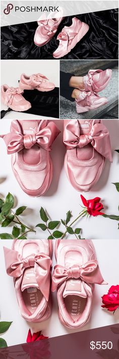 http://shoeicideltd.storenvy.com/products/19723890-rihanna-puma-fenty-silver-pink-bow-sneakers