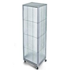 Azar 700406-CLR Clear Four-Sided Pegboard Floor Display on Wheeled Base by Azar. $377.74. From the Manufacturer                This four sided spinner display includes four 16-Inch W X 60-Inch H plastic pegboard panels offered in a variety of colors. The display comes standard with a wheeled metal base and has an attached sign holder strip.                                    Product Description                This four sided spinner display includes four 16-Inch W X 60...