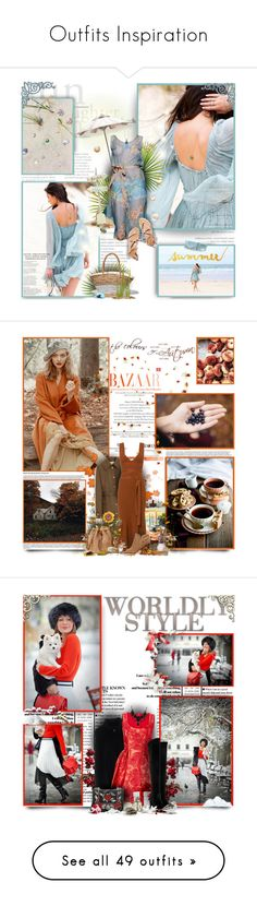 """Outfits Inspiration"" by perplexidadesilencio ❤ liked on Polyvore featuring Blugirl, Effy Jewelry, Mulberry, Victoria Beckham, Sam Edelman, Fall, orange, brown, autumn and amandaseyfried"