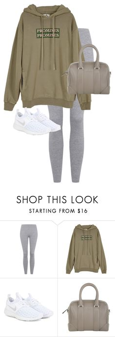"""Untitled #11939"" by alexsrogers ❤ liked on Polyvore featuring Topshop, UNIF, NIKE and Givenchy"