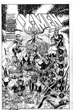 X-Men #100 Cover by Arthur Adams - W.B.