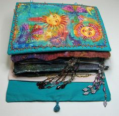 Fabric Book exchange by gramarye, via Flickr