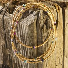 Tulsi wood and mixed bead bracelet/necklace combo