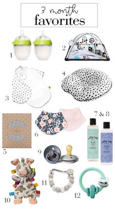 must haves for a 3 month old baby