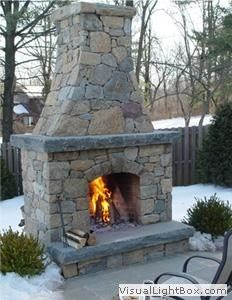 The Exterior Fire Pit Ring – Outdoor Kitchen Designs Outdoor Fireplace Patio, Outdoor Stone Fireplaces, Outside Fireplace, Outdoor Fireplace Designs, Fireplace Ideas, Outdoor Kitchen Design, Patio Design, Outdoor Rooms, Outdoor Living