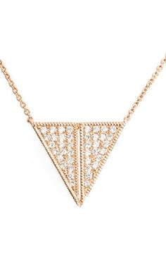 Danna Rebecca Designs 'Aria Selene' Triangle Pendant Necklace available at #Nordstrom