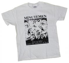 c341ac40a04c Minutemen- Buzz Or Howl on a white shirt (Band Shirts (Guys)). Minutemen-  Buzz Or Howl on a white shirt