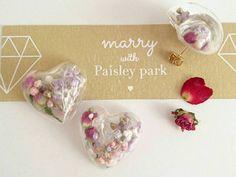 世界一可愛い花嫁ピアス♡marryコラボの春色ふわふわ可愛いガラスドームピアスを販売します*にて紹介している画像