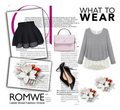 """Romwe"" by lena-386 ❤ liked on Polyvore featuring moda e Kate Spade"