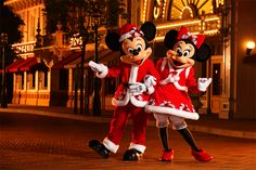 Christmas with Mickey and Minnie!