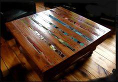 Pallet Coffee Table #Pallets #DIY #RePurpose #CoffeeTable