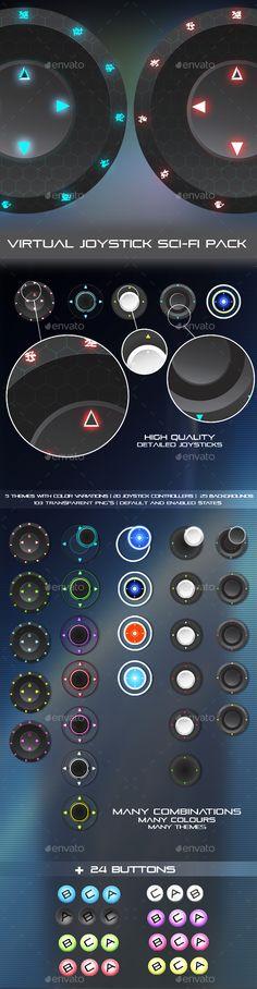 Virtual Joystick Sci-Fi Pack - User Interfaces Game Assets