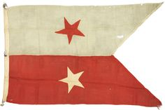 Major General Philip H. Sheridan's Personal Civil War, 1864-1865, Battle Flag. Sheridan adopted this flag upon assuming command of the Army of the Potomac's Cavalry Corps in April of 1864 and it accompanied him through the rest of the war.