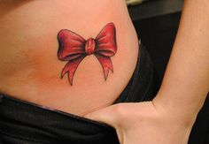cute bow tattoo- want it on the back of my neck.