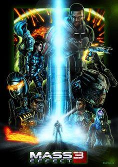 Mass Effect Trilogy Fan-Art Done In The Style of Star Wars Posters by on deviantART Mass Effect Characters, Mass Effect Games, Mass Effect 1, Mass Effect Universe, Gi Joe, Rainbow Six Siege Art, Star Force, Commander Shepard, Best Sci Fi