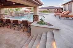 Wonderful Outdoor Pool Bar Ideas To Entertain Your Guest Swimming Pool Landscaping, Luxury Swimming Pools, Dream Pools, Swimming Pool Designs, Pool Decks, Home Swimming Pool, Casa Patio, Backyard Patio, Outdoor Pool