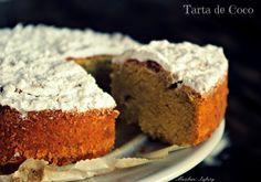 Tarta con Harina de Coco Tortas Light, My Recipes, Dinner Recipes, Healthy Desserts, Healthy Recipes, Healthy Tortilla, Dairy Free, Gluten Free, Sin Gluten