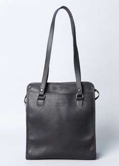 Montague Leather Zipper Top Tote, Made in Brooklyn