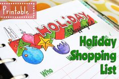 Shopping List for the Holidays Christmas Shopping List, Holiday List, Filofax, Agenda Organization, Christmas Planning, Party Printables, Organize, Lime, Scrapbook