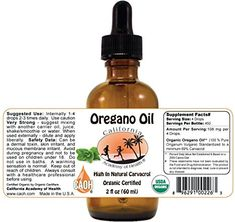 Oregano Oil – 2 oz Bottle – 100% pure certified organic Oregano Oil from CAOH Review