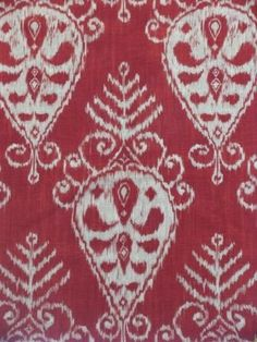 """beautifulfabrics.comSeabury Sangria Outstanding allover repeat medallion pattern on a rich red background with accents in tan.   Pattern:         Seabury Sangria  Fiber Content  100% Cotton  Width             54 inches  Repeat           V 25.25 """" - H 13.5 """"  Applications:   Upholstery,Drapery,Bedding,PillowsPrice: $44.99 Per Yard"""