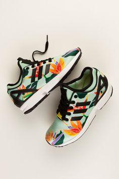 adidas Originals ZX Flux NPS White Shoes Heels d8decc931f