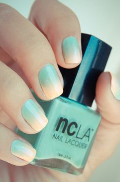 NCLA gradient - Poolside Party, All Eyes on Me (light, sandy color) & Santa Monica Shore Things (light green color)