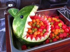 Watermelon and fruit balls--Let the children scoop out the fruit.  A great snack and an activity on counting and using those muscles!