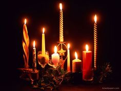 """Sept 7th 6pm Candle Magick $28.00 Learn what candle shape & color to use for what spell and why. Learn the do's & Don'ts of candle burning.Learn how the moon will affect your work. Learn to safely Bless, charge and make Magickal candles for any purpose.Learn what candle you should ALWAYS have in your home.Learn how to incorporate stones, crystals,herbs,oils & magickal symbolism in your candles.Plus more. Fee includes class, hand outs and all supplies.""""Don't be left in the dark!"""""""