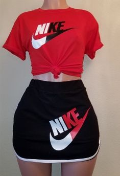 TrendyStylesLa - The N!ke Skirt Set