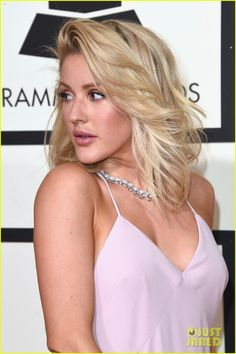 Ellie Goulding Stuns at Grammys 2016!: Photo #929606. Ellie Goulding is pretty in pink while arriving for the 2016 Grammy Awards held at the Staples Center on Monday (February 15) in Los Angeles.     The 29-year-old…