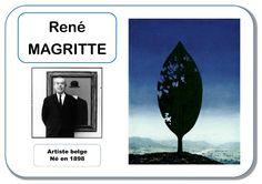 René Magritte - Portrait d'artiste Plus Kids Art Class, Art Lessons For Kids, Art For Kids, Art History Memes, Art Worksheets, Ecole Art, Klimt, Toddler Art, Oeuvre D'art