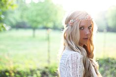 DIY braided floral crown
