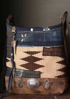 Boho Bags Leather Purses Denim Bag Cute Bucket
